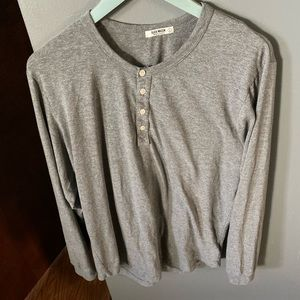 Buck mason long sleeve Henley grey